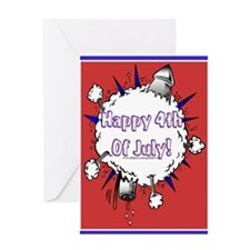 Happy 4th Rocket Blast Greeting Card