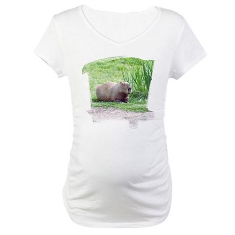 Capybara Laying Down Maternity T-Shirt