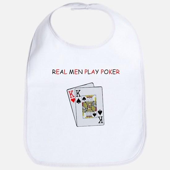 """""""Real Men Play Poker"""" Bib"""