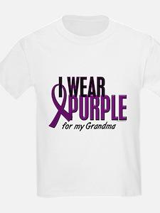 I Wear Purple For My Grandma 10 T-Shirt