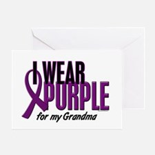 I Wear Purple For My Grandma 10 Greeting Card
