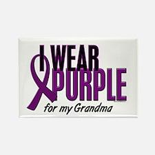 I Wear Purple For My Grandma 10 Rectangle Magnet