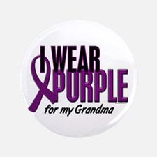 "I Wear Purple For My Grandma 10 3.5"" Button"