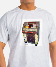 Seeburg M100W Jukebox Ash Grey T-Shirt