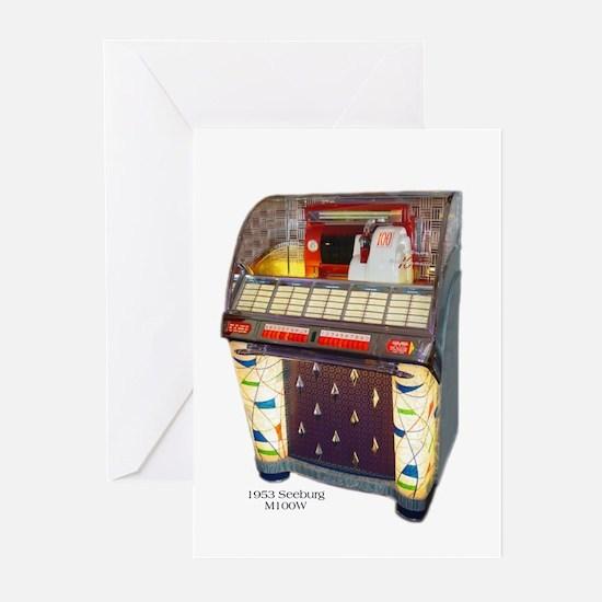 Seeburg M100W Jukebox Greeting Cards (Count 6)