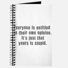 People and Stupid Opinions Journal