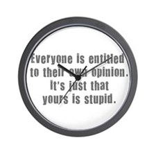 People and Stupid Opinions Wall Clock