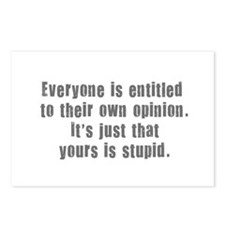 People and Stupid Opinions Postcards (Package of 8