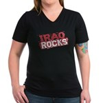 Iraq Rocks Women's V-Neck Dark T-Shirt