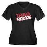 Iraq Rocks Women's Plus Size V-Neck Dark T-Shirt