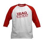 Iraq Rocks Kids Baseball Jersey
