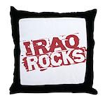 Iraq Rocks Throw Pillow
