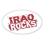 Iraq Rocks Oval Sticker
