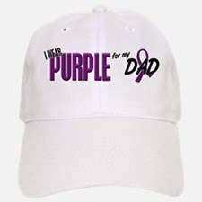 I Wear Purple For My Dad 10 Baseball Baseball Cap