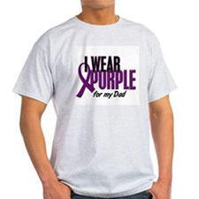 I Wear Purple For My Dad 10 T-Shirt
