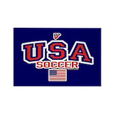 USA American Soccer Rectangle Magnet