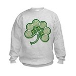 Irish Spiral Shamrock Kids Sweatshirt