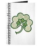 Irish Spiral Shamrock Journal