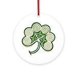 Irish Spiral Shamrock Ornament (Round)