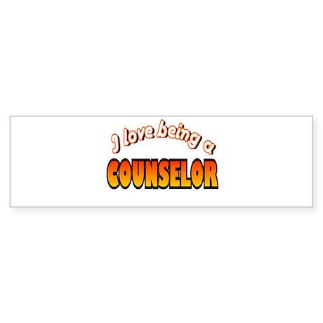 I Love Being A Counselor Bumper Sticker