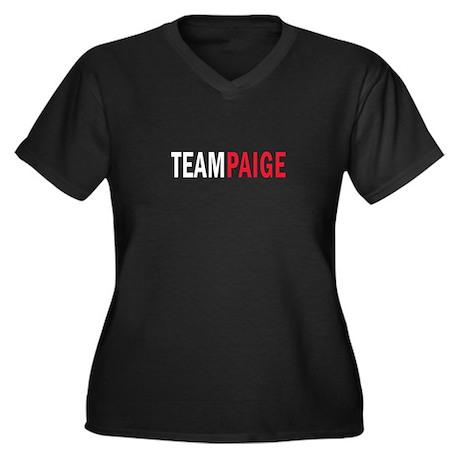 Paige Women's Plus Size V-Neck Dark T-Shirt
