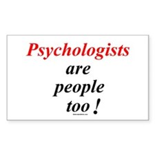 Psychologist people Rectangle Decal