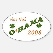 O'BAMA 2008 - Vote Irish Oval Decal