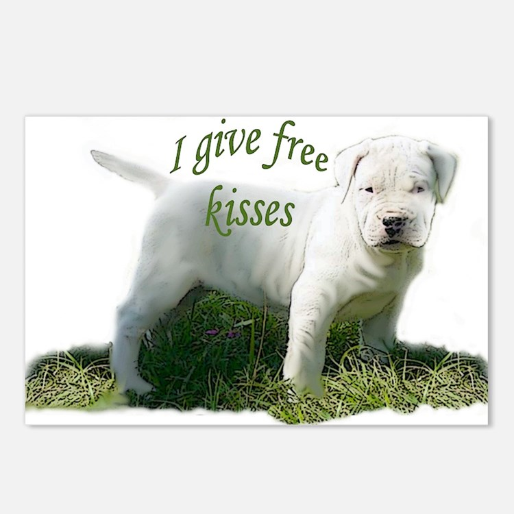 dogo argentino kisses Postcards (Package of 8)