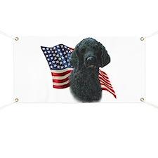 Poodle (Blk) Flag Banner