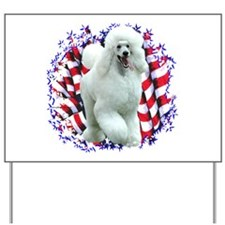 Poodle Patriotic Yard Sign