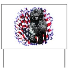 Water Dog Patriotic Yard Sign