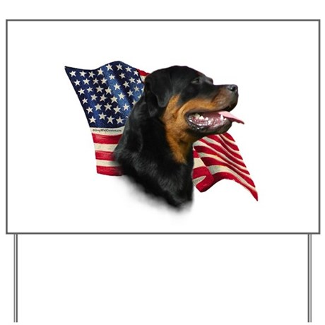 Rottweiler Flag Yard Sign