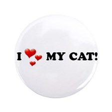 "I Love My Cat 3.5"" Button (100 pack)"