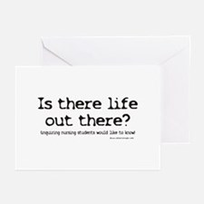 Is there Life? Student Nurse Greeting Cards (Pk of