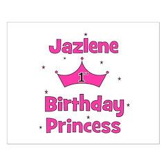 1st Birthday Princess Jazlene Posters