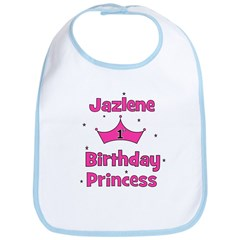 1st Birthday Princess Jazlene Bib