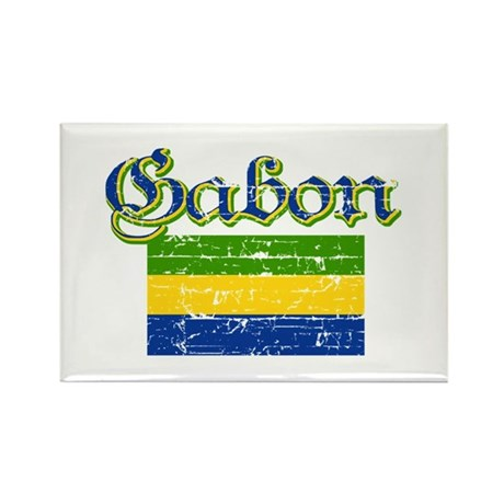 Gabonese Flag Rectangle Magnet (100 pack)