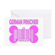 GERMAN PINSCHER PRICELESS Greeting Card