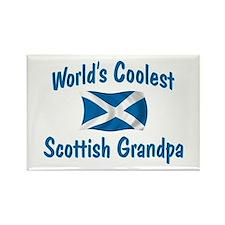 Coolest Scottish Grandpa Rectangle Magnet