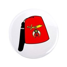 "Shriner Fez 3.5"" Button"