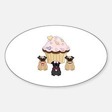 Pug Dog Cupcakes Decal