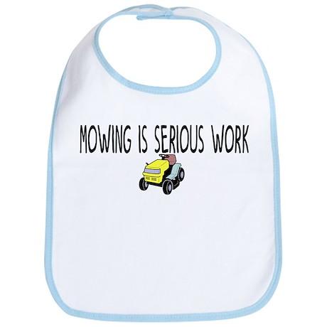 Mowing serious work Bib
