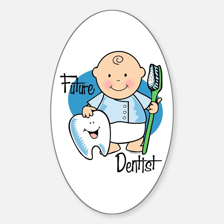 Future Dentist Oval Decal