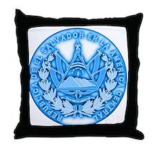 El Salvador Seal Throw Pillow