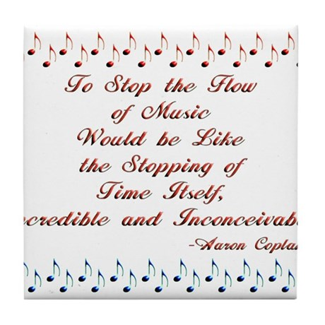The Flow of Music Tile Coaster