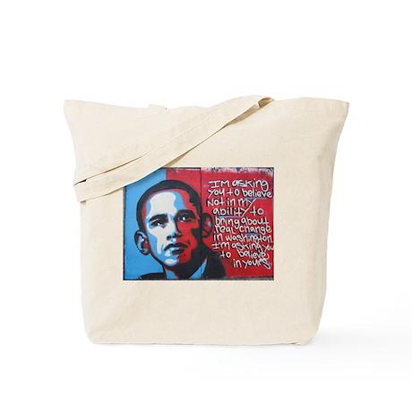 Obama Graffitti Tote Bag