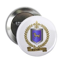 CHEVAL Family Crest Button