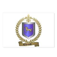 CHEVAL Family Crest Postcards (Package of 8)