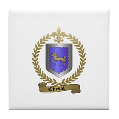 CHEVAL Family Crest Tile Coaster