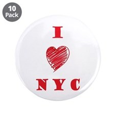 "I love NYC 3.5"" Button (10 pack)"
